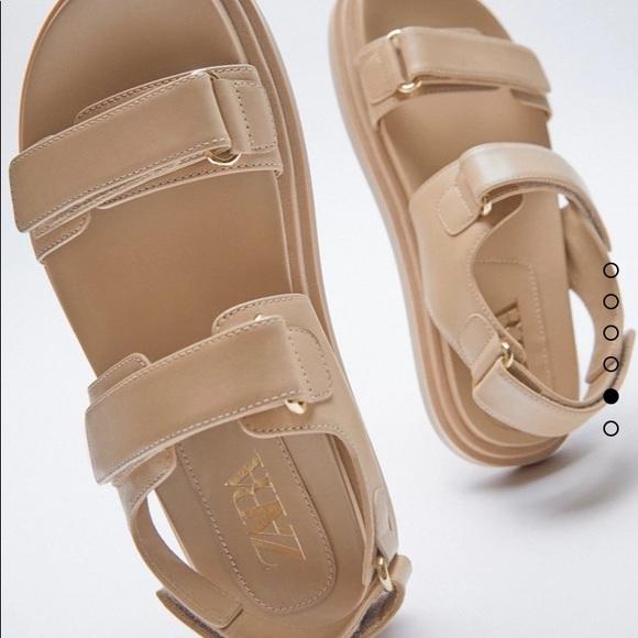 Zara adhesive strap sandals